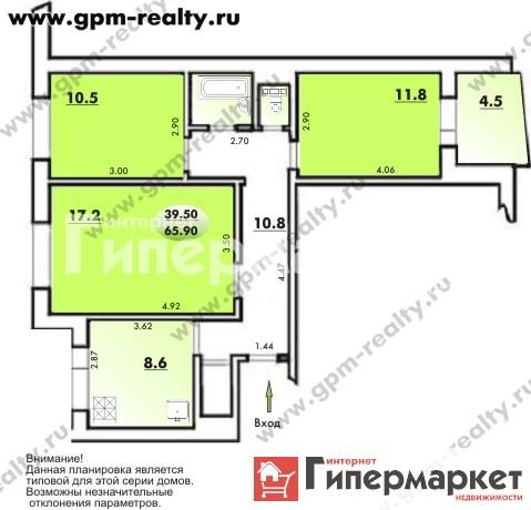 Недвижимость, Новгородская область, Новгородский район, Ермолино, дом 11б, планировки квартиры