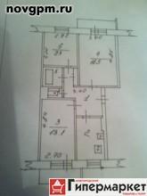 Александра Корсунова проспект, 36 к.6: 3-комнатную квартиру, 60/39/7.5 м, 5/5 блочный, балкон и лоджия, комнаты изолированные 16.5+13.1+9.4 м, документы готовы, собственник, 2'230'000 руб., продам