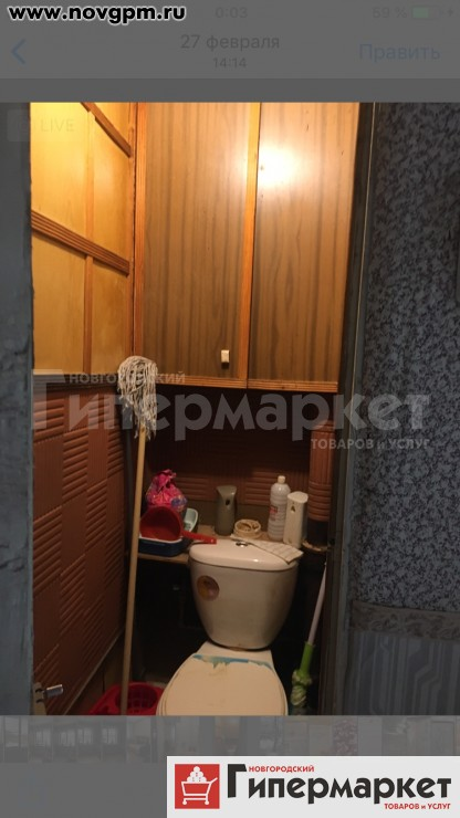 Великий Новгород, Деревяницы, Береговая улица, 44 к.2: 3-комнатную квартиру, 63.8/47/9.4 м, 3/5 панельный, окна стеклопакеты, встроенная кухня, ванная-кафель, металлическая двойная входная дверь, окна на разные стороны, в т.ч. во двор, чистый подъезд, домофон, 2'350'000 руб., продам